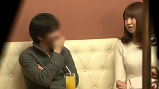 Japanese wife fucking with a guy in front of husband