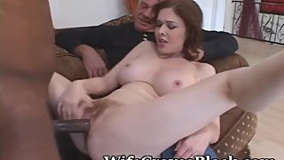 Legs spread wife new cock