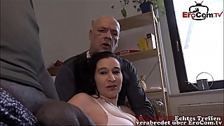 Change cuckold husband watches as his young girlfriend being fucked by black cock