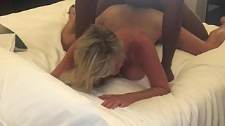 Hotwife girl bent over a couple of large black birds