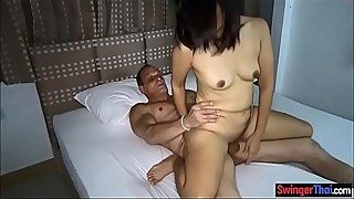 Thai amateur cuckold with friends