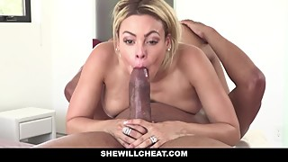 Shewillcheat - a blond-haired, latin, cuban woman, and she loves fat black cock