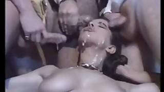 A woman in a gangbang by husbands business partner