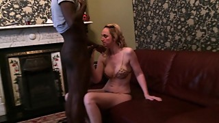 Mature blonde wife screwed her first black cock i