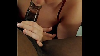 Drunk slut throat milf wife deep and gagging a big black cock in a hotel room on vacation