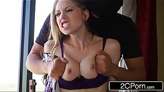 Horny housewife shawna lenee fucked by the two anonymous masked men